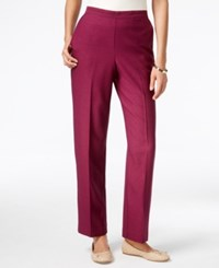 Alfred Dunner Pull On Straight Leg Pants Wine