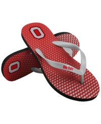 Forever Collectibles Ohio State Buckeyes High End Flip Flops Red