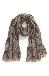 Jimmy Choo Metallic Pattern Woven Scarf Black