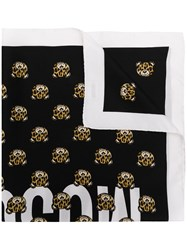 Moschino Teddy Bear Print Scarf Black