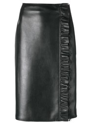 Twin Set Runched Detail Pencil Skirt Black