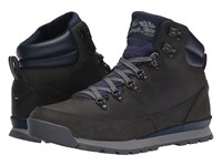 The North Face Back To Berkeley Redux Leather Trans Zinc Grey Cosmic Blue Men's Hiking Boots Brown