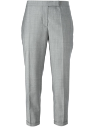 Thom Browne Cropped Front Pleat Trousers