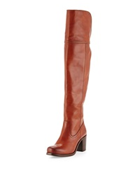 Kendall Chunky Heel Over The Knee Boot Cognac Frye