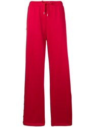 Versace Palazzo Track Pants Red