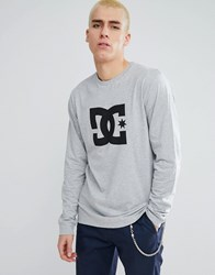 Dc Shoes Long Sleeve T Shirt With Star Logo In Grey Grey