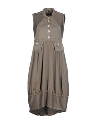 High Dresses Short Dresses Women Dove Grey