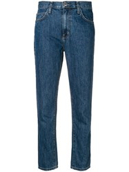 Current Elliott Cropped Jeans Blue