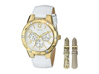 Guess U0163l4 Analog Display Quartz Watch Blush White Python Chronograph Watches Coral