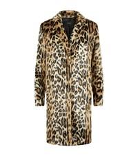 Set Leopard Print Coat Female Tan