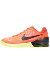 Nike Performance Zoom Cage 2 Outdoor Tennis Shoes Hyper Orange Black Lava Glow Volt