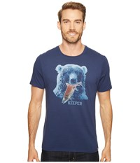 Life Is Good Bear Smooth Tee Darkest Blue Men's T Shirt
