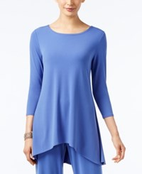 Alfani Jersey High Low Tunic Only At Macy's Alf Pery Blue