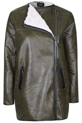 Snug Military Shearling Jacket By Goldie Green