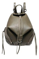 Rebecca Minkoff Woman Textured Leather Backpack Army Green