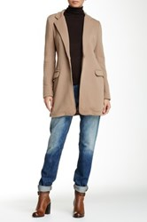 Luma Long Textured Jacket Beige