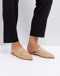 Asos Mouse Pointed Mules Beige