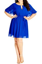 City Chic Plus Size Women's Metal Bar Tunic Ultra Blue