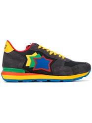 Atlantic Stars Antarta Sneakers Leather Suede Polyester Rubber Black