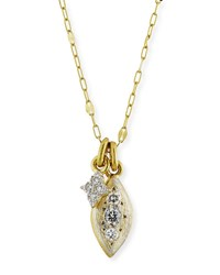 Jude Frances 18K Moroccan Double Diamond Pendant Necklace Gold