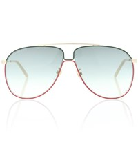 Gucci Aviator Metal Sunglasses Gold