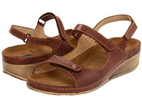 Wolky Tsunami Cafe Cartago Leather Women's Sandals Brown