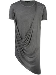 Unconditional Asymmetric Drape T Shirt Grey