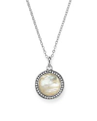 Ippolita Stella Lollipop Pendant Necklace In Mother Of Pearl Doublet With Diamonds In Sterling Silver 16 White Silver