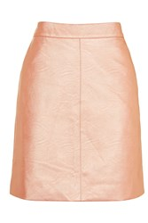 Topshop Tall Classic Pu Skirt Rose