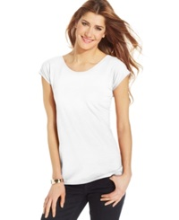 Style And Co. Scoop Neck Tee Bright White