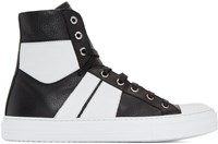 Amiri Black And White Sunset High Top Sneakers