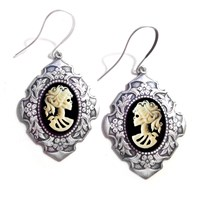Couture By Lolita Skeleton Cameo Renaissance Earrings