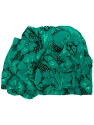 Antonio Marras Lace Embroidered Fitted Hat Green