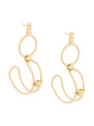Paula Mendoza Stbc Earrings Gold Plated Brass Metallic