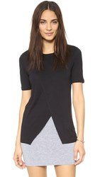 David Lerner Asymmetrical Tee Classic Black