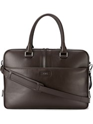 Tod's All Around Zip Briefcase Brown