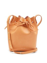 Mansur Gavriel Mini Leather Bucket Bag Tan Multi