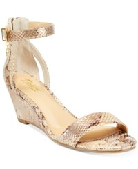 Thalia Sodi Areyana Two Piece Wedge Sandals Only At Macy's Women's Shoes Champagne