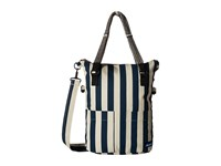 Kavu Foothill Tote Nautical Stripe Tote Handbags Blue