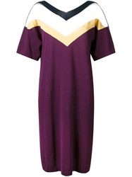 Roberto Collina 'Triple V' Dress Pink And Purple