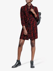 Hush Wendy Shirt Dress Red Snake