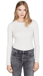 Club Monaco Carolena Long Sleeve Tee Light Heather Grey