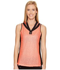 Jamie Sadock Rice Paper Textured Sleeveless Top Tutti Fruiti Women's Sleeveless Orange