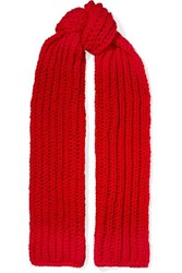 Awake A.W.A.K.E. Wool Scarf Red