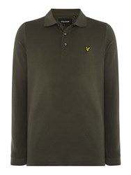 Lyle And Scott Men's Long Sleeve Classic Polo Olive