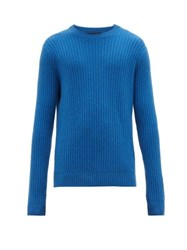 Allude Ribbed Cashmere Sweater Blue