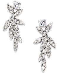 Eliot Danori Nature Pave Cubic Zirconia Drop Earrings