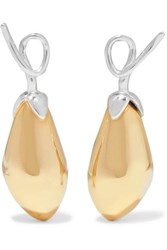 Anne Manns Adelheid Silver And Gold Plated Earrings One Size