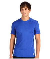 Nike Pro Combat Fitted 2.0 S S Crew Varsity Royal Grey Men's Short Sleeve Pullover Blue