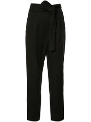 Apiece Apart Cropped Trousers Black